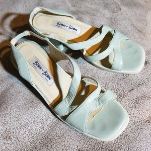 🔥5 FOR 25 SALE Bisou blue leather sandals